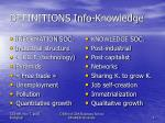 definitions info knowledge