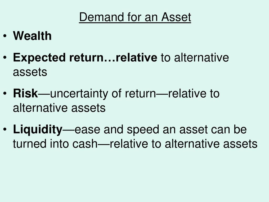 demand for an asset