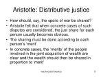 aristotle distributive justice