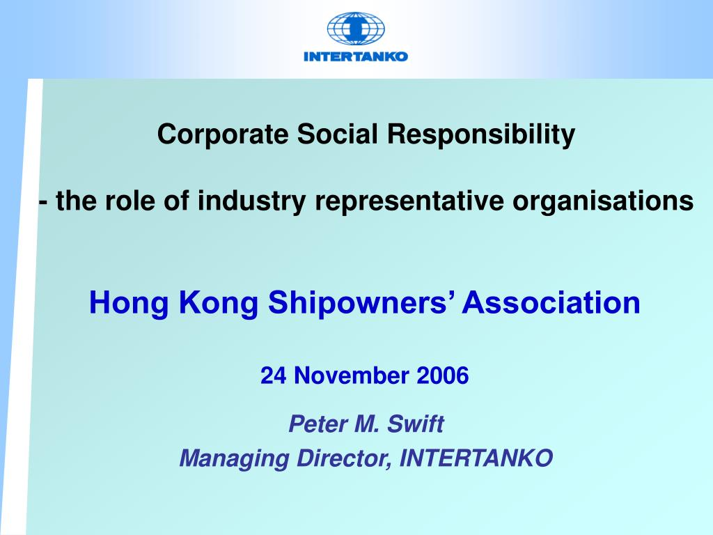 corporate social responsibility the role of industry representative organisations l.