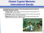 global capital markets international bonds