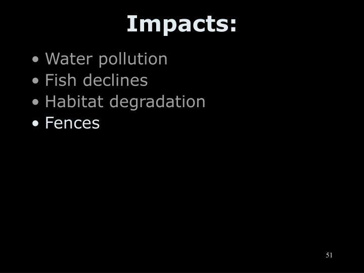 Impacts: