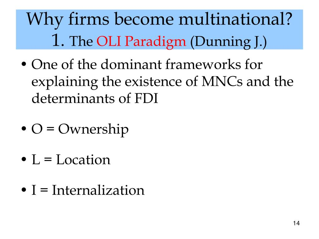 why would a firm want to become a multinational essay