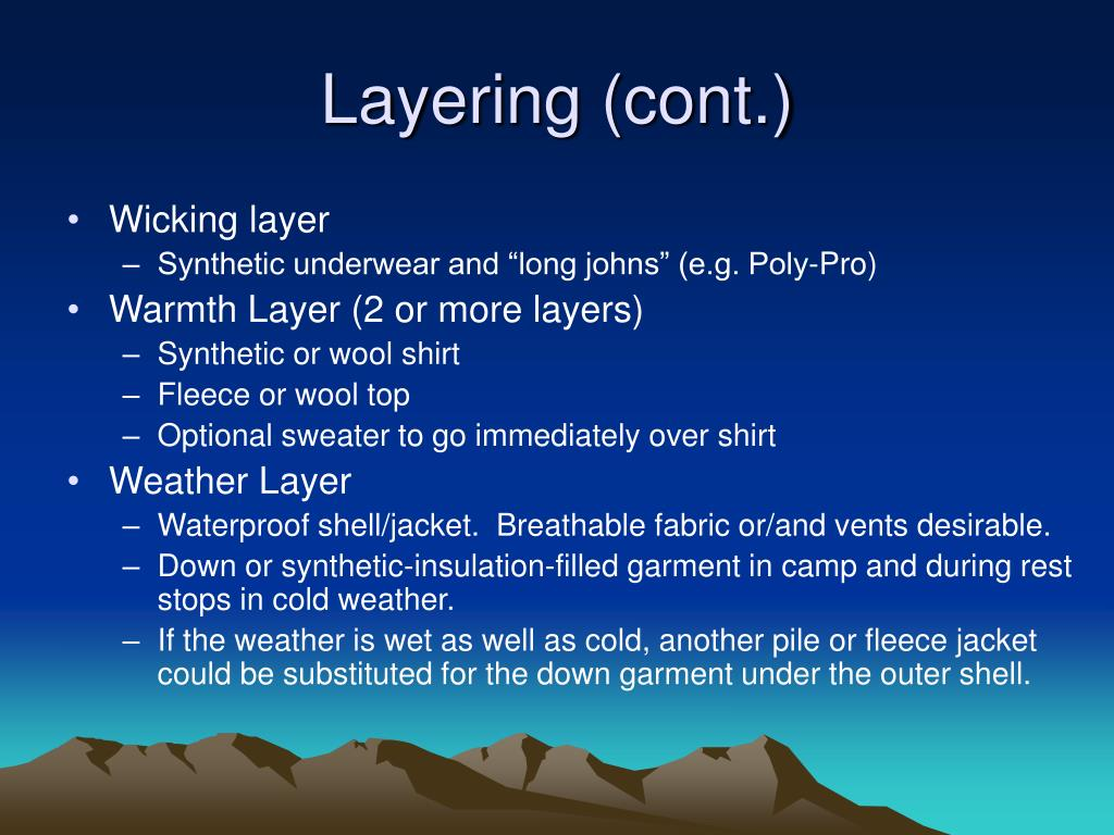 Layering (cont.)