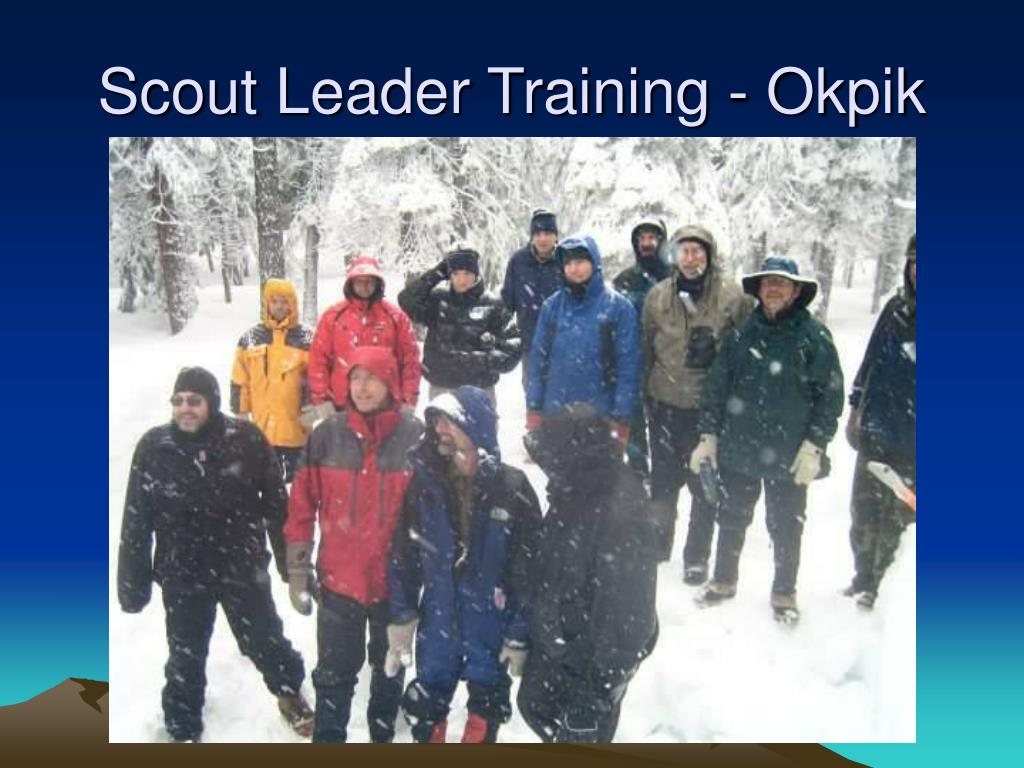 Scout Leader Training - Okpik