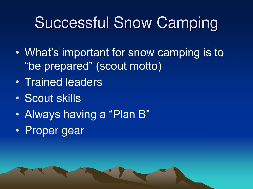 Successful Snow Camping