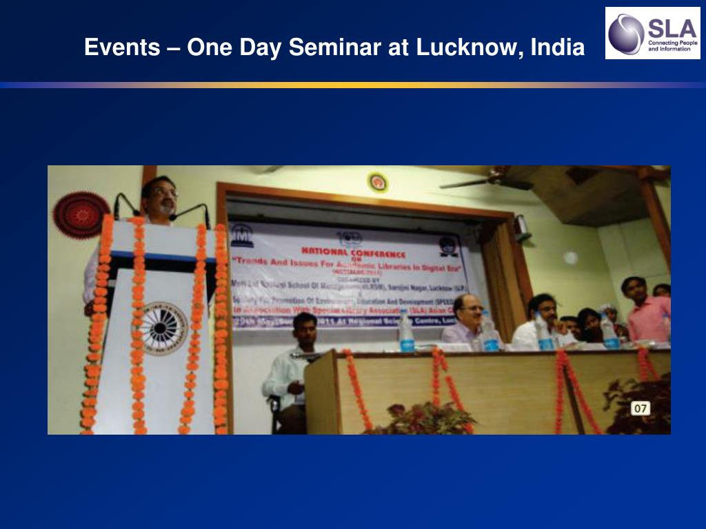 Events – One Day Seminar at Lucknow, India