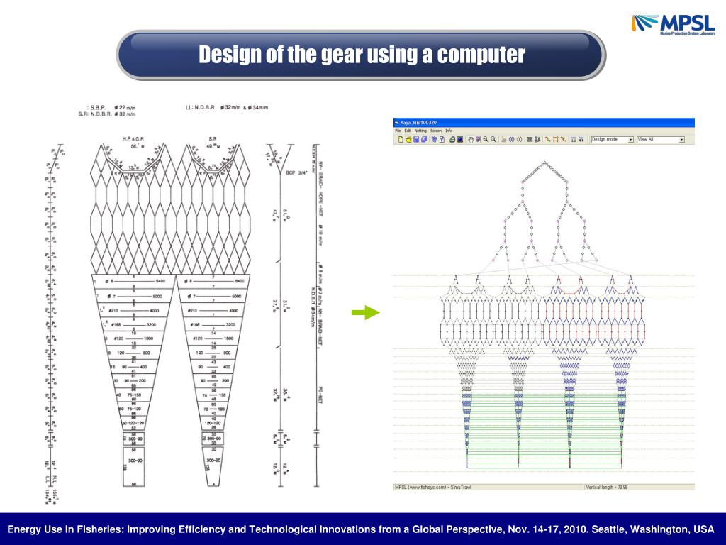 Design of the gear using a computer