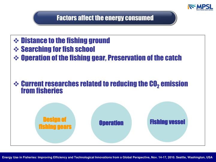 Factors affect the energy consumed