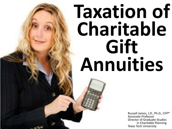 taxation of charitable gift annuities n.
