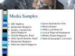 media samples