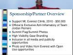 sponsorship partner overview