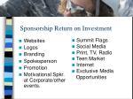 sponsorship return on investment