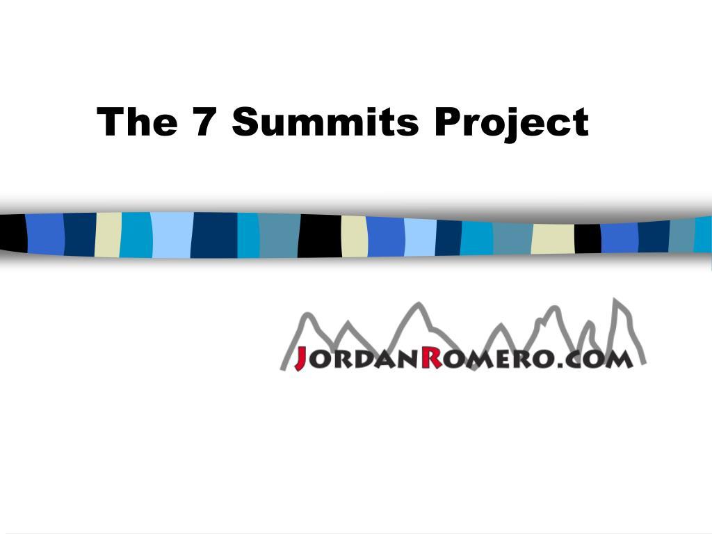 the 7 summits project l.