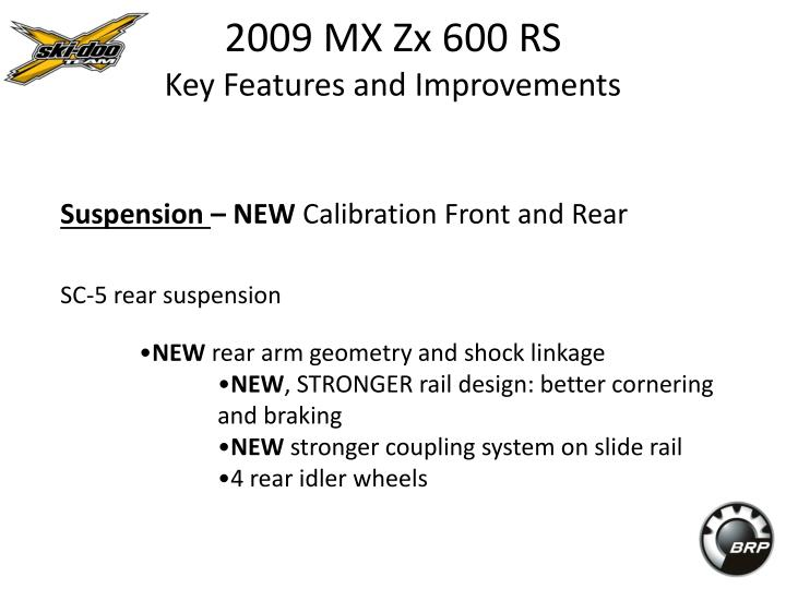 2009 mx zx 600 rs key features and improvements3