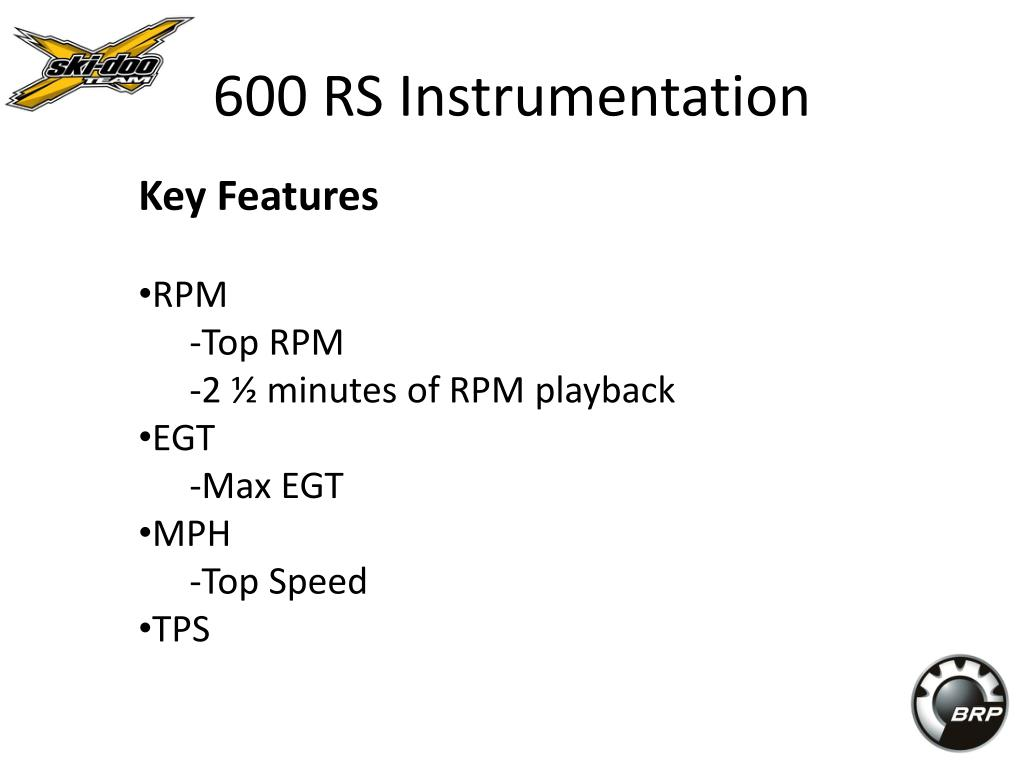 600 RS Instrumentation