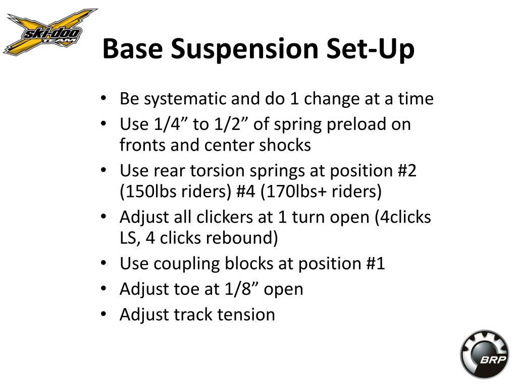 Base Suspension Set-Up