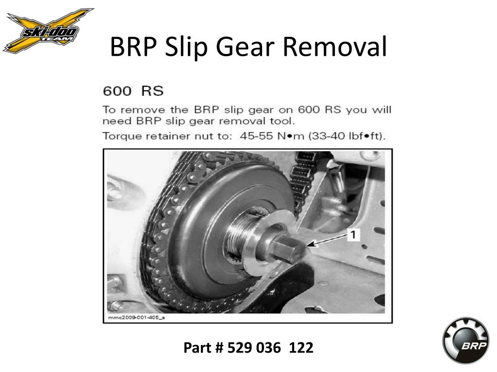 BRP Slip Gear Removal