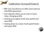 calibration screws clickers