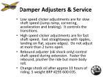 damper adjusters service