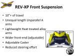 rev xp front suspension