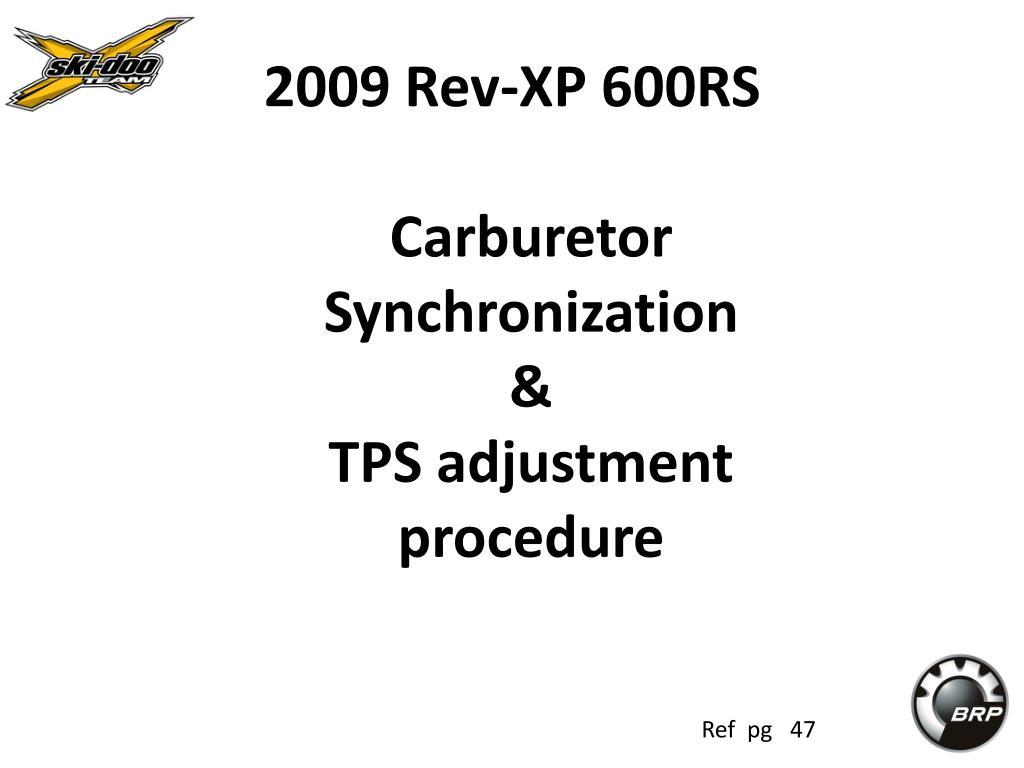 2009 Rev-XP 600RS