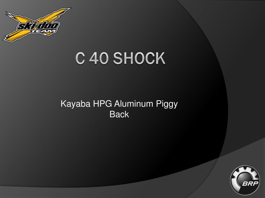 Kayaba HPG Aluminum Piggy Back