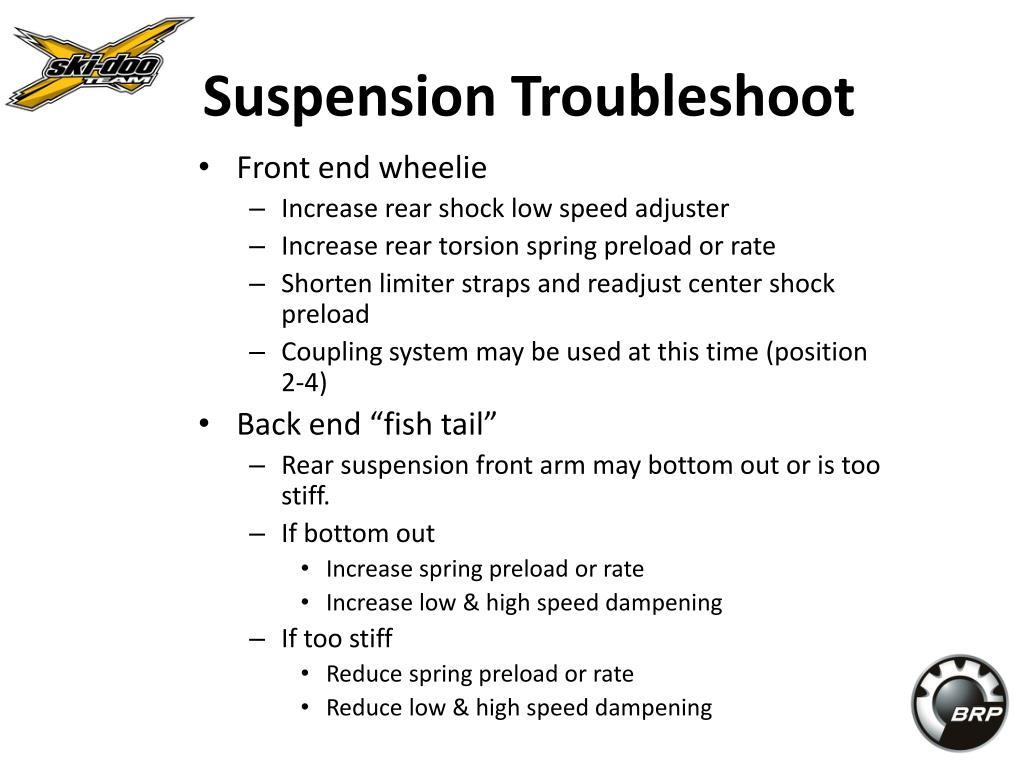 Suspension Troubleshoot