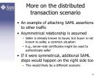 more on the distributed transaction scenario