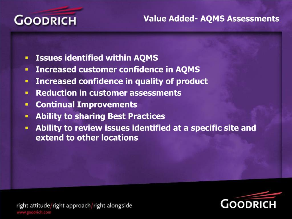 Value Added- AQMS Assessments