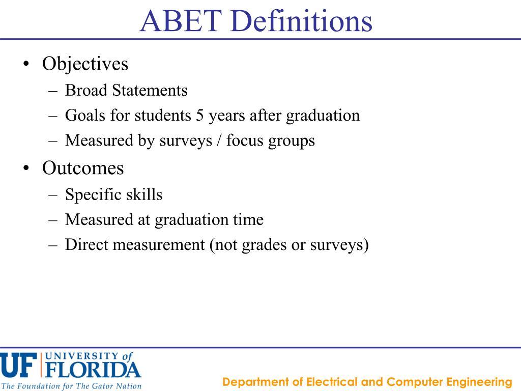 ABET Definitions
