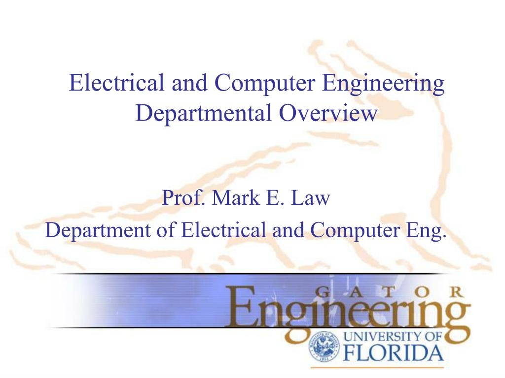 electrical and computer engineering departmental overview l.