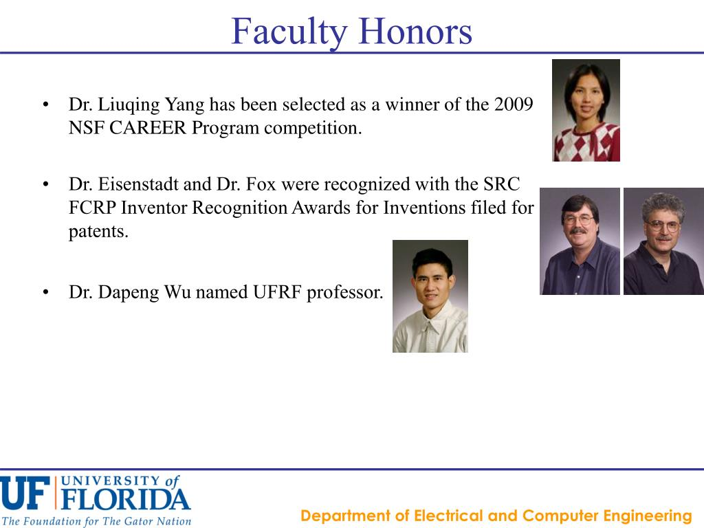 Faculty Honors