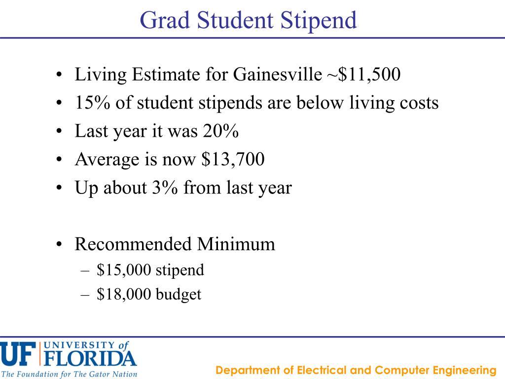 Grad Student Stipend