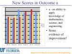 new scores in outcome a