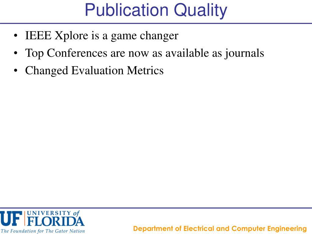 Publication Quality