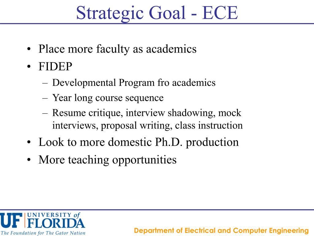 Strategic Goal - ECE