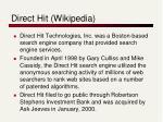 direct hit wikipedia
