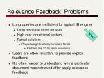 relevance feedback problems23