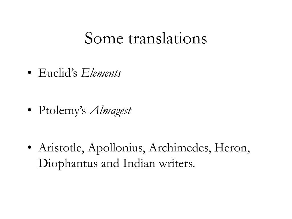 Some translations