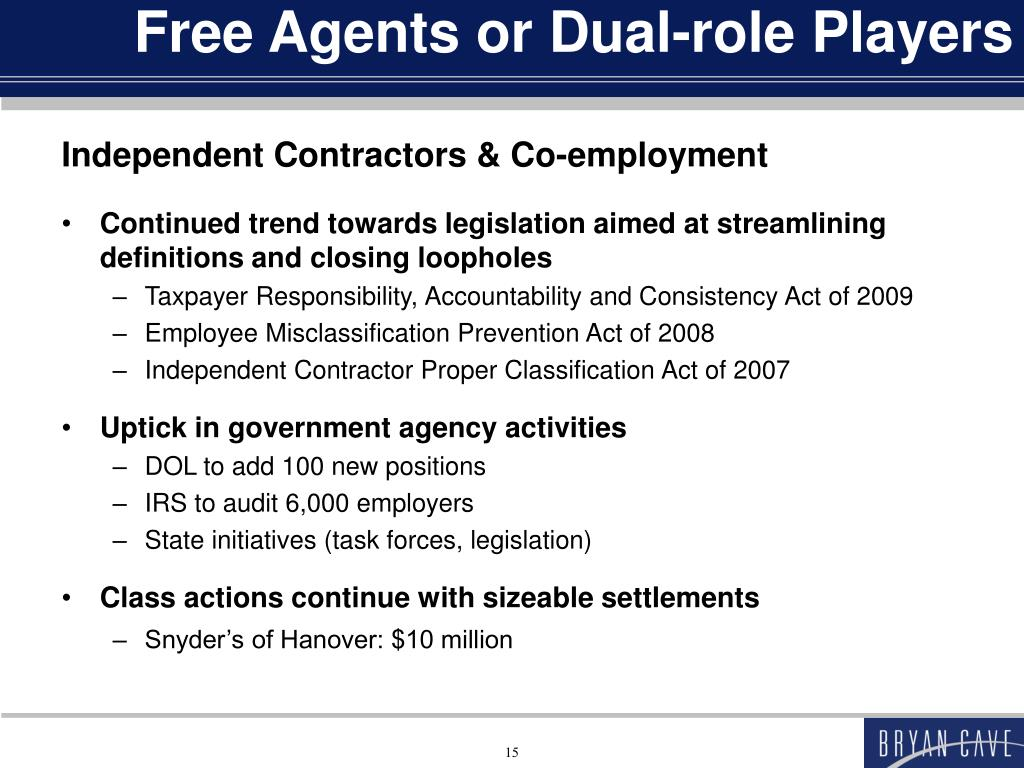 Free Agents or Dual-role Players