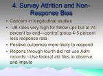 4 survey attrition and non response bias