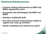 technical enhancements