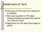 inhabitants of york