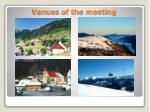 venues of the meeting11