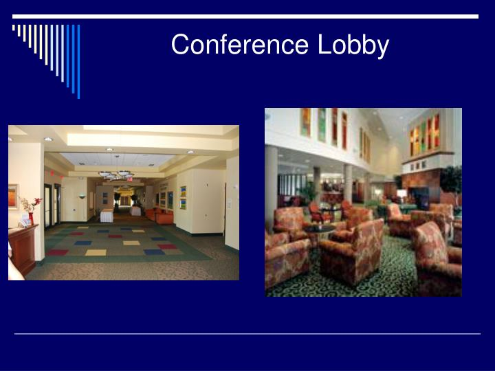 Conference lobby