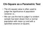chi square as a parametric test