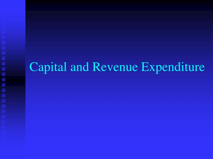 Difference between capital and revenue