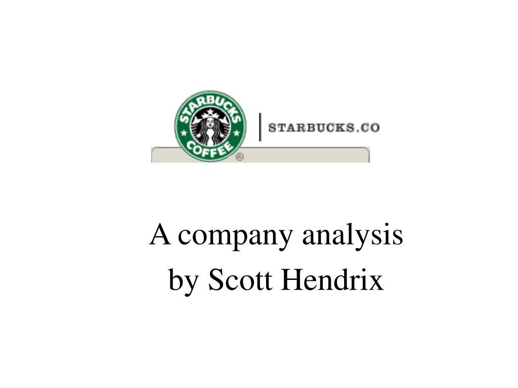 a company analysis by scott hendrix l.