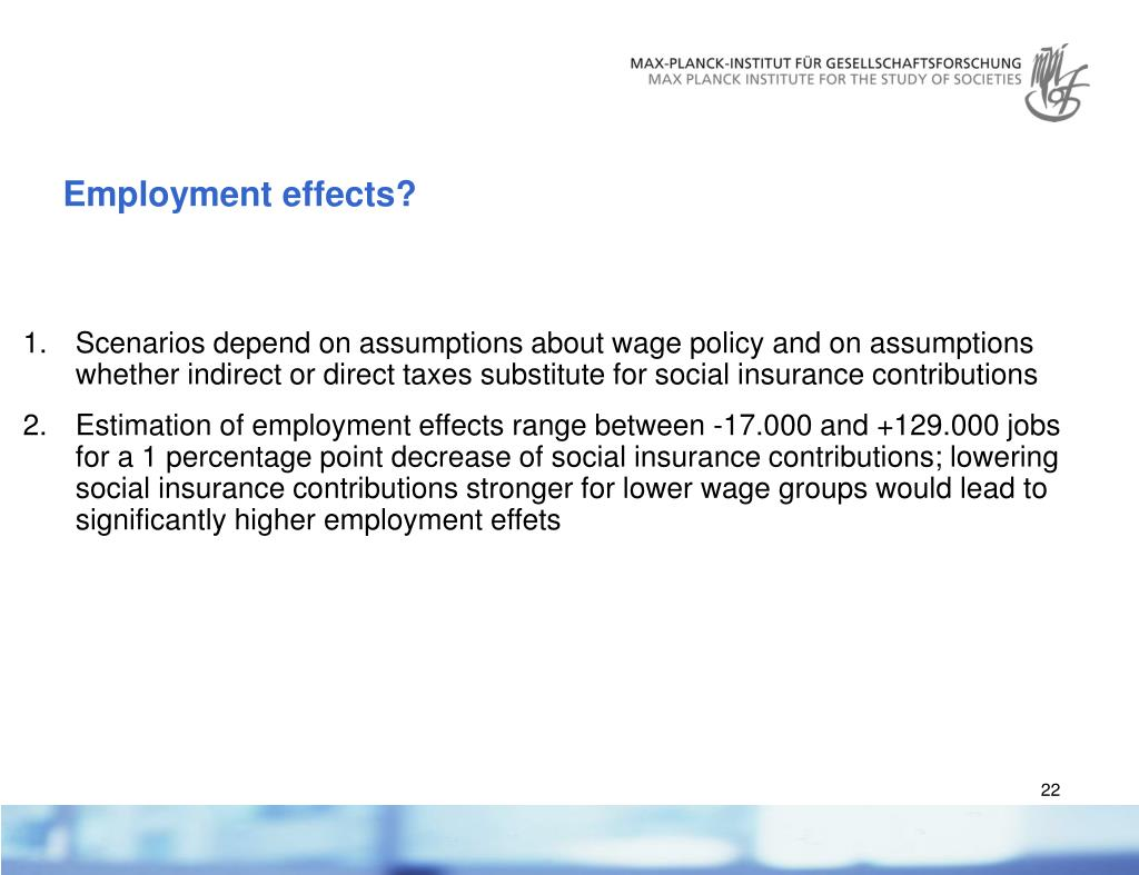 Employment effects?